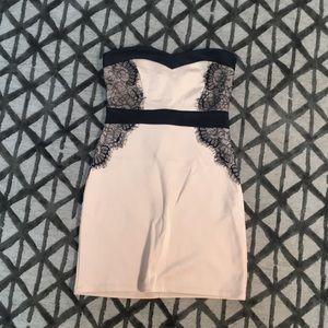 Beige mini dress